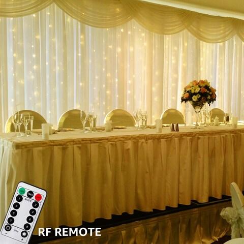 600LEDs, 8 Lighting Modes, 19.7ft x 9.8ft Curtain Light, 2700K-3500K