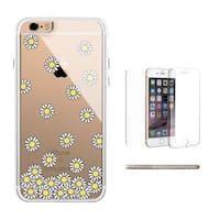 360° Full Protection Daisy Flower Clear iPhone Case Cute Transparent Phonecase