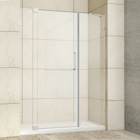 """Milano 60"""" W x 72"""" H Hinged Frameless Tub Door in Polished Chrome - 60"""" W x 72"""" H"""