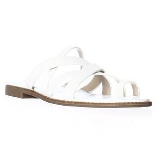 Via Spiga Reese2 Toe Loop Slide Sandals - White
