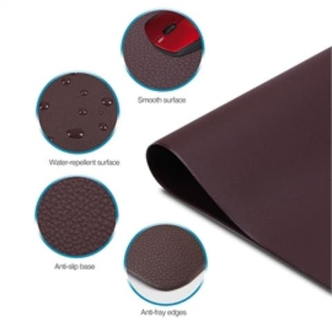 SIIG Accessory CE-PD0512-S1 Large Leather Smooth Desk Mat Protector Dark Brown Retail
