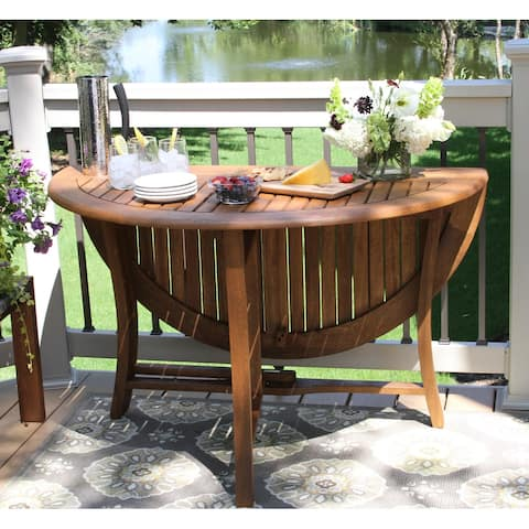 Eilaf 48-inch Round Eucalyptus Folding Table by Havenside Home