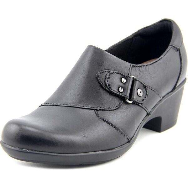 Clarks Narrative Genette Harper Women Round Toe Leather Black Loafer