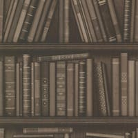 Brewster 2604-21231 Atheneum Brown Antique Books Wallpaper - N/A