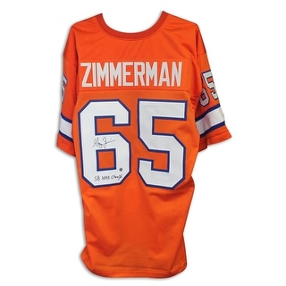 "Gary Zimmerman Denver Broncos Autographed Orange Jersey Inscribed ""SB XXXII Champs"""