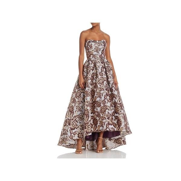 0b49e0ebb6 Shop Aqua Womens Evening Dress Brocade Strapless - Free Shipping ...