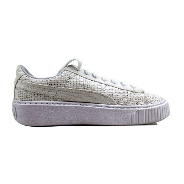 puma platform basket white