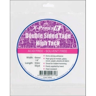"""X-Press It High Tack Double-Sided Tissue Tape-.25""""X55yd"""