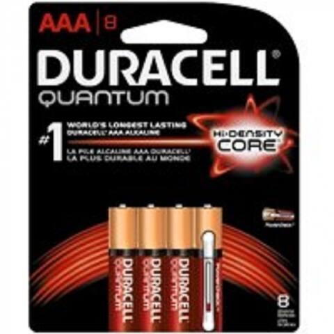 Duracell 66253 Alkaline Battery, 8 AAA