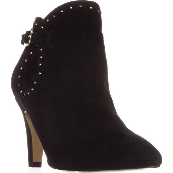 Bella Vita Delfina Ankle Booties, Black Suede - 8 w us