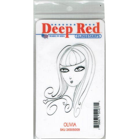 Deep Red Stamps Olivia Rubber Cling Stamp - 2 x 3