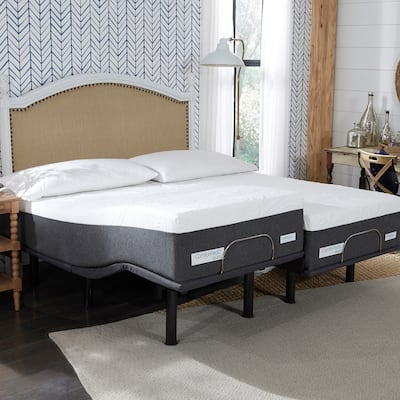 ComforPedic from BeautyRest 14-inch NRGel Mattress and Adjustable Bed Set
