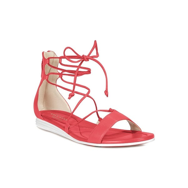 Cole Haan Womens Original Grand Leather Round Toe Casual Gladiator Sandals