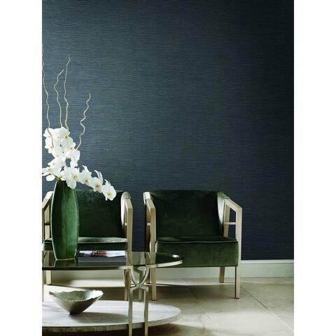 Encinitas Ramie Weave Gray Wallpaper