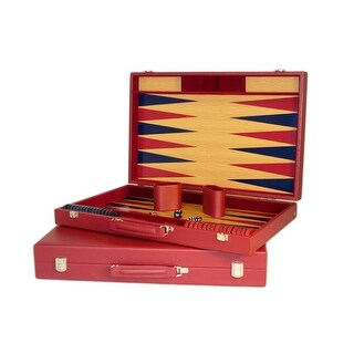 Burgundy Tournament Backgammon Set