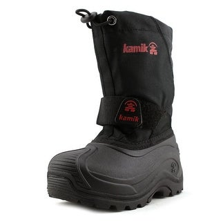 Kamik Snowbound Youth Round Toe Synthetic Black Snow Boot