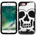 Insten Skullcap Hard PC/ Silicone Dual Layer Hybrid Rubberized Matte Case Cover For Apple iPhone 7 - Thumbnail 4