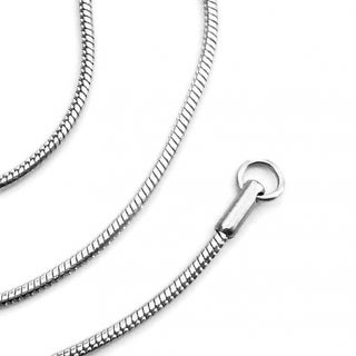Loralyn Designs Stainless Steel Snake Chain Necklace Smooth Round (2mm) - Silver