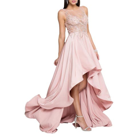 Terani Couture Prom Embellished Formal Dress - Blush - 14