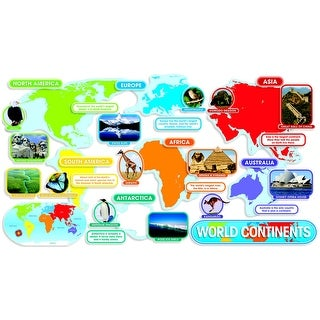 Scholastic World Continents Design Bulletin Board Set