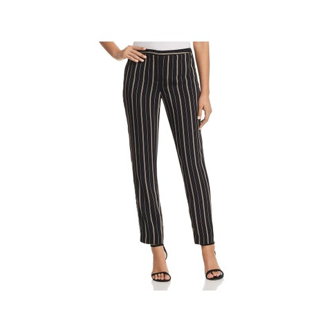 T Tahari Womens Ivana Dress Pants Striped Straight Leg