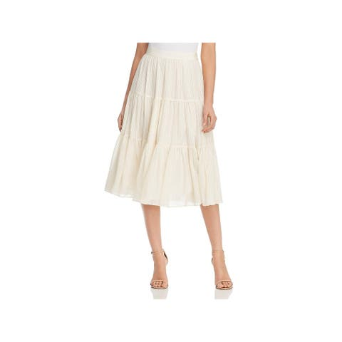 Tory Burch Womens Skirt Silk Georgette - New Ivory - 8