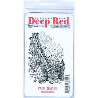 Link to Deep Red Stamps Park Benches Rubber Cling Stamp - 3 x 2 Similar Items in Stamping