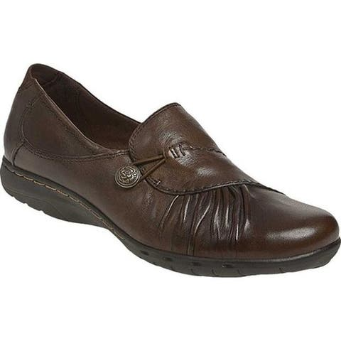 Rockport Women's Cobb Hill Paulette Bark Full Grain Leather