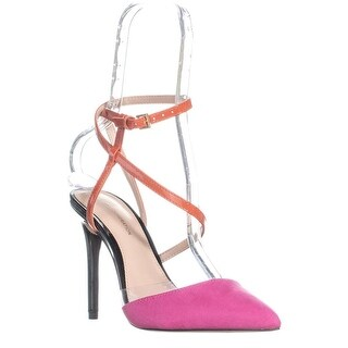 BCBGeneration Harlow Pointed Toe Sandals, Pink/Sunset