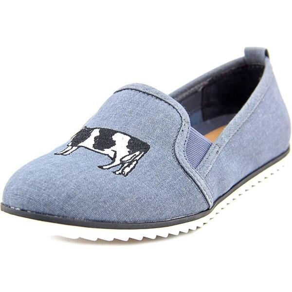Bar III Opal Women Round Toe Canvas Blue Loafer