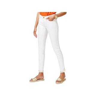 MICHAEL Michael Kors Womens Petites Skinny Jeans Studded Mid-Rise - 8P