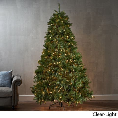 7.5-foot Fraser Fir Hinged Artificial Christmas Tree by Christopher Knight Home