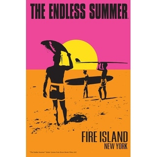 Fire Island, New York - The Endless Summer - Original Movie Poster (Acrylic Serving Tray)
