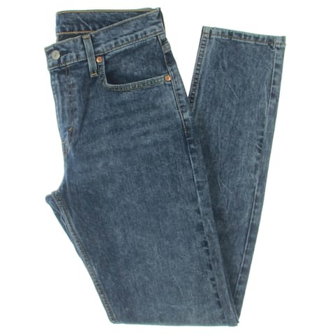 Levi's Mens 512 Slim Jeans Denim High Rise - Blue