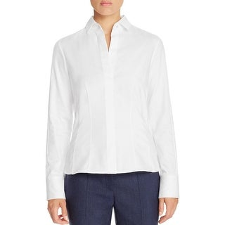 BOSS Hugo Boss Womens Bashina6 Button-Down Top Side Zip Cotton - 6