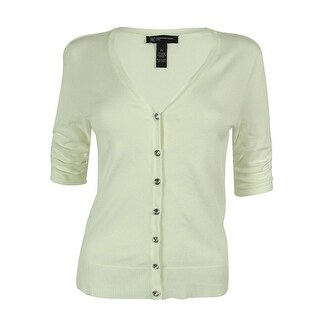INC International Concepts Women's Ruched Sleeve Cardigan