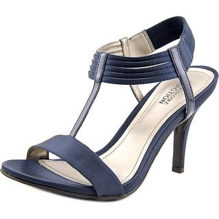 Kenneth Cole Reaction Know Way Women Open Toe Canvas Blue Sandals
