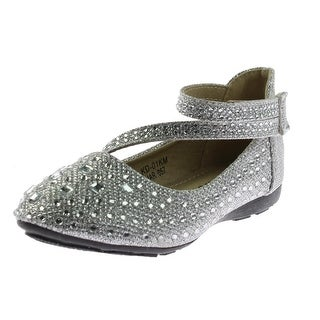 Lucita Girls Ballet Flats Glitter Embellished - 9 medium (b,m) toddler