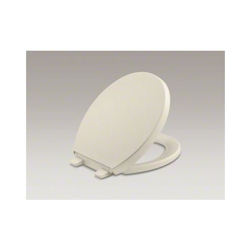 Kohler K-4009 Reveal Round Closed-Front Toilet Seat with Grip Tight Bumpers, Qui