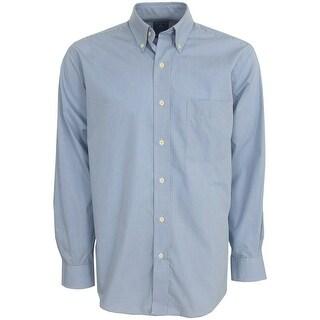Antigua Focus Mini Check Long-Sleeve Oxford Style Men's Shirt, Brand NEW
