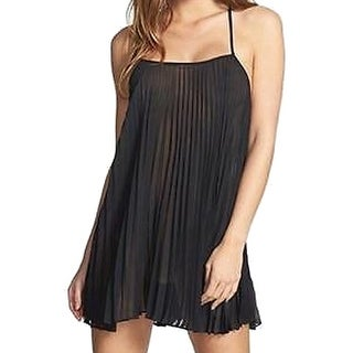 In Bloom By Jonquil NEW Black Women's Size Large L Pleated Chemise