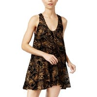 Free People Womens Casual Dress Fit and Flare Velvet