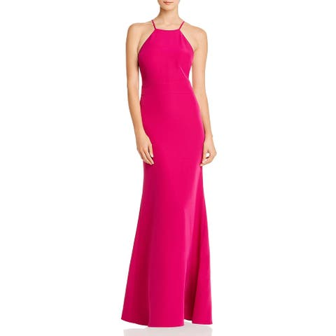 Laundry by Shelli Segal Womens Evening Dress Cut-Out Sleeveless - Hot Pink
