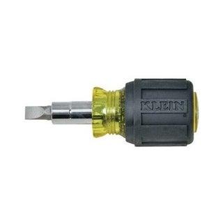 """Klein 32561 Stubby Multi-Bit Screwdriver/Nutdriver, 3/16"""""""