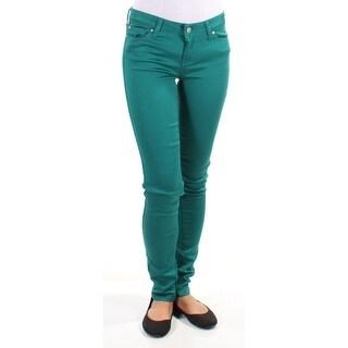 CELEBRITY PINK $44 Womens New 1271 Green Casual Pants 0 Juniors B+B