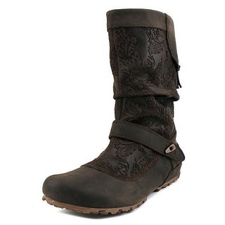 Merrell Haven Pull Women Round Toe Leather Mid Calf Boot