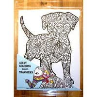 "9""X12"" - Dog Coloring Transfer"