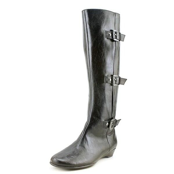 Aerosoles Womens Sarasota Almond Toe Knee High Platform Boots