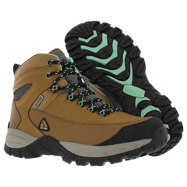 OTAH Forestier Women's Waterproof Hiking Mid-Cut Camel/Teal Boots