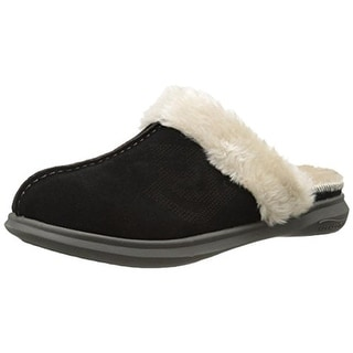 Spenco Womens Supreme Slide Suede Lined Mule Slippers